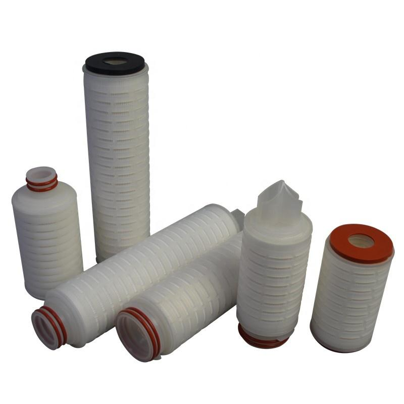 Integrated PP core 222 EPDM code pleated 20 inch fiber glass media filter for industrial oil/fuel/liquid separator pre filter