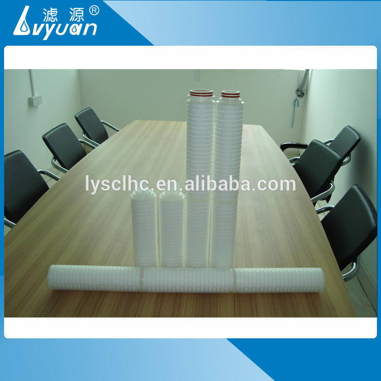 Industrial water filtration 20 40 inch membrane pleated filter cartridge 0.2 microns for multi-core filters housing