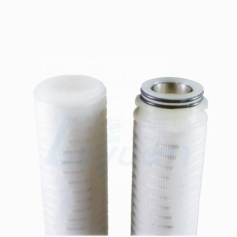 0.2 micron 0.45um 10 inch PTFE membrane pleated filter cartridges for respiratory vent filtration