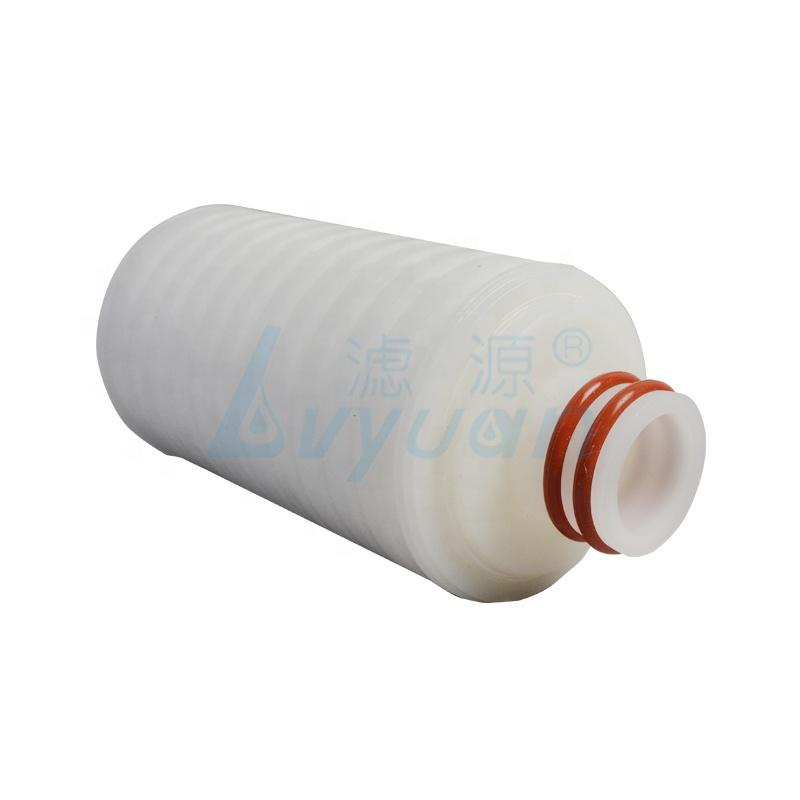 DOE SOE 10 20 inch PP pleated water filter cartridge with 0.2 micron polypropylene filter membrane