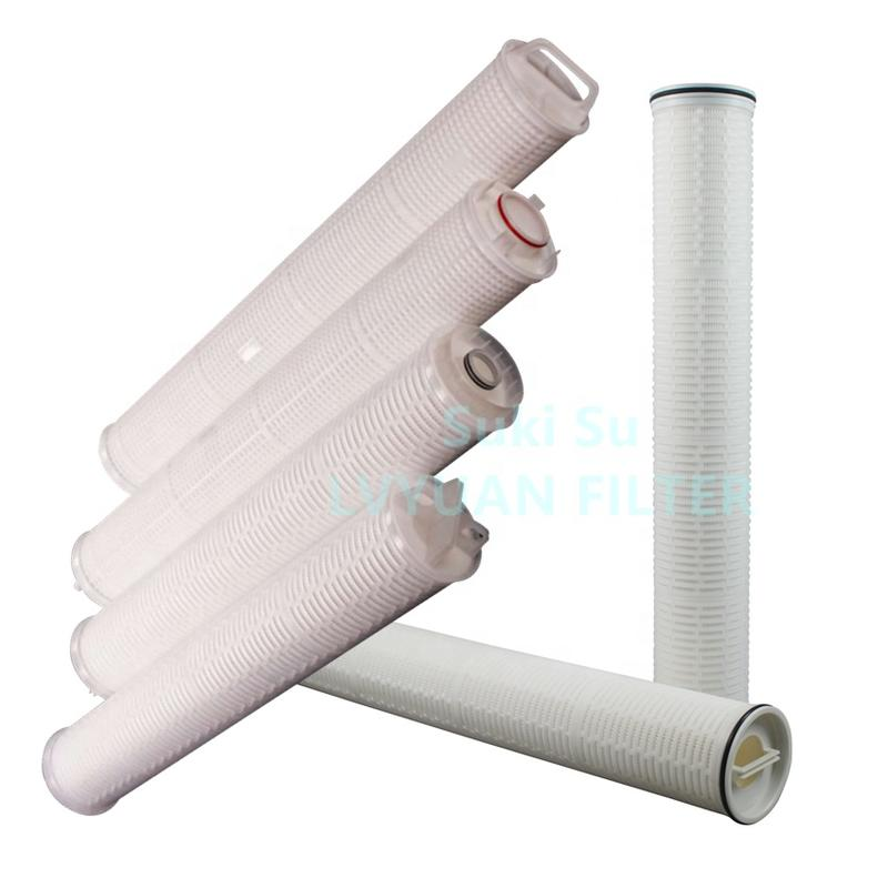 High flow SOE 222/flat/fin 10 microns polypropylene pleated water cartridge filter for petroleum/oil filed industry