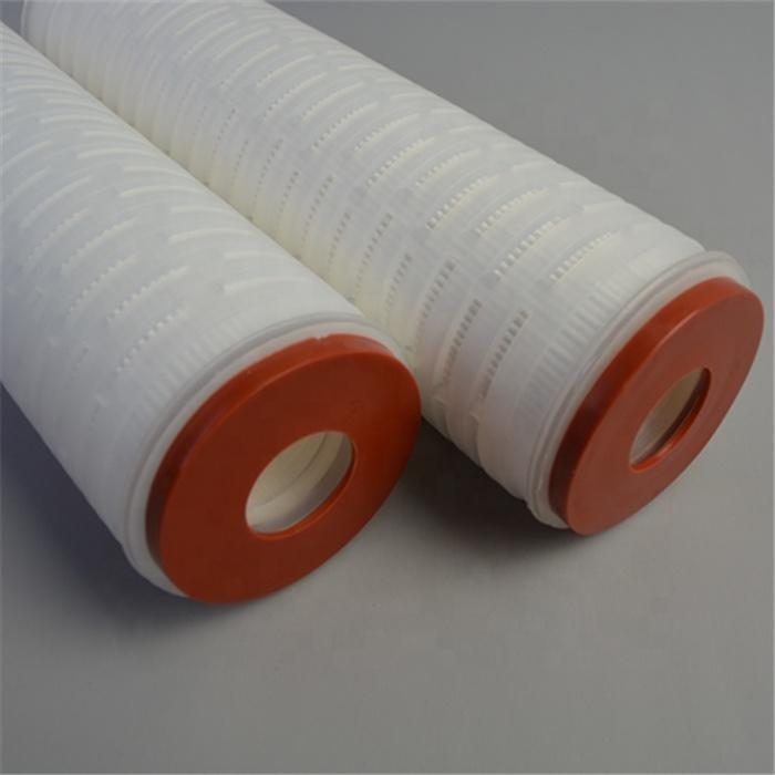 Folded PP membrane Polypropylene Pleated Filter Cartridge with DOE SOE code 7 8 end