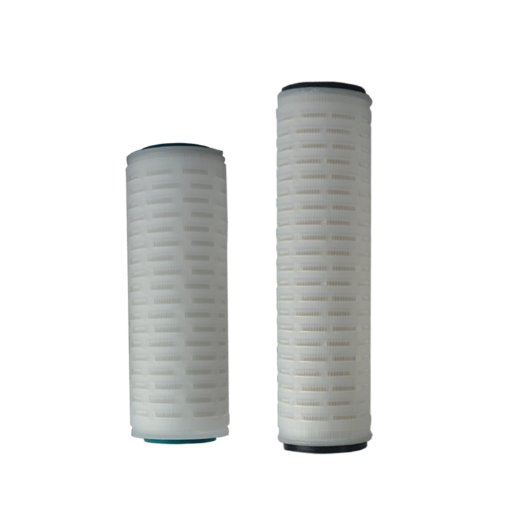 Manufacture micro membrane 10/20 inch pleated polypropylene filter cartridge for water treatment replacement