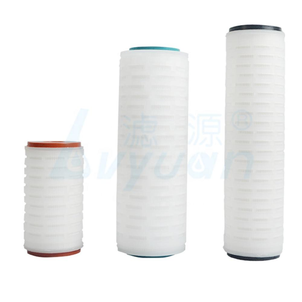 0.22 Micron 10 20 30 40 Inch Water Filter Element PP/Nylon Pleated Filter Cartridge Nylon Membrane Filter