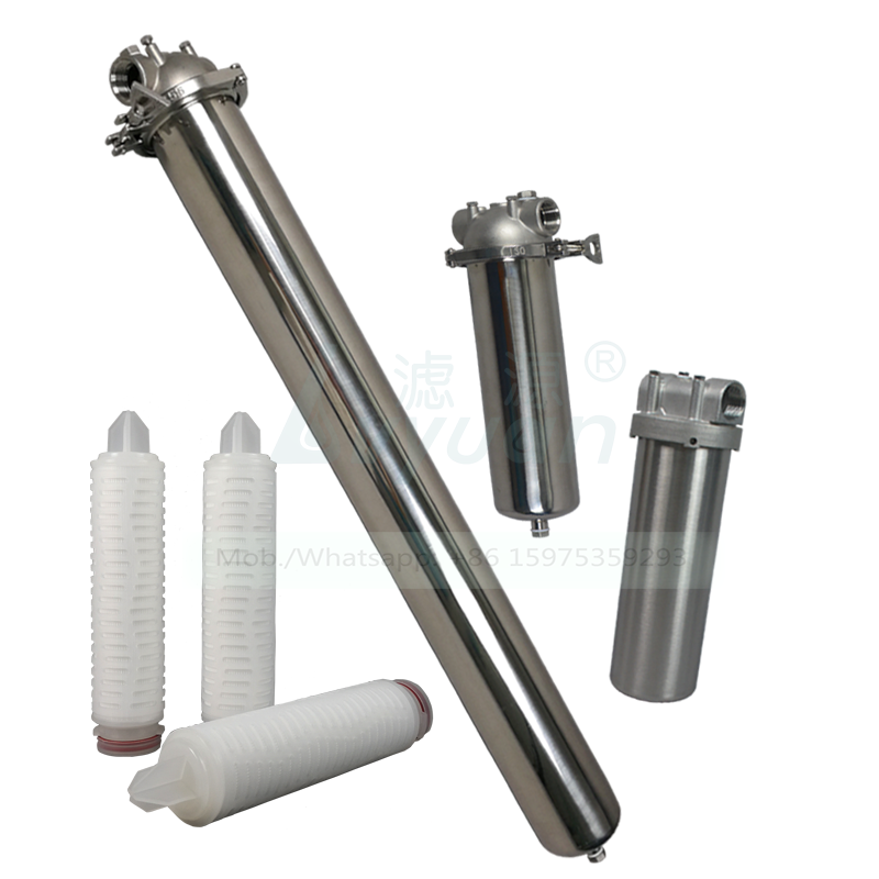 Microporous membrane 10/20/30/40 inch pleated PES PTFE 0.2 micron filter cartridge with stainless steel adaptor core