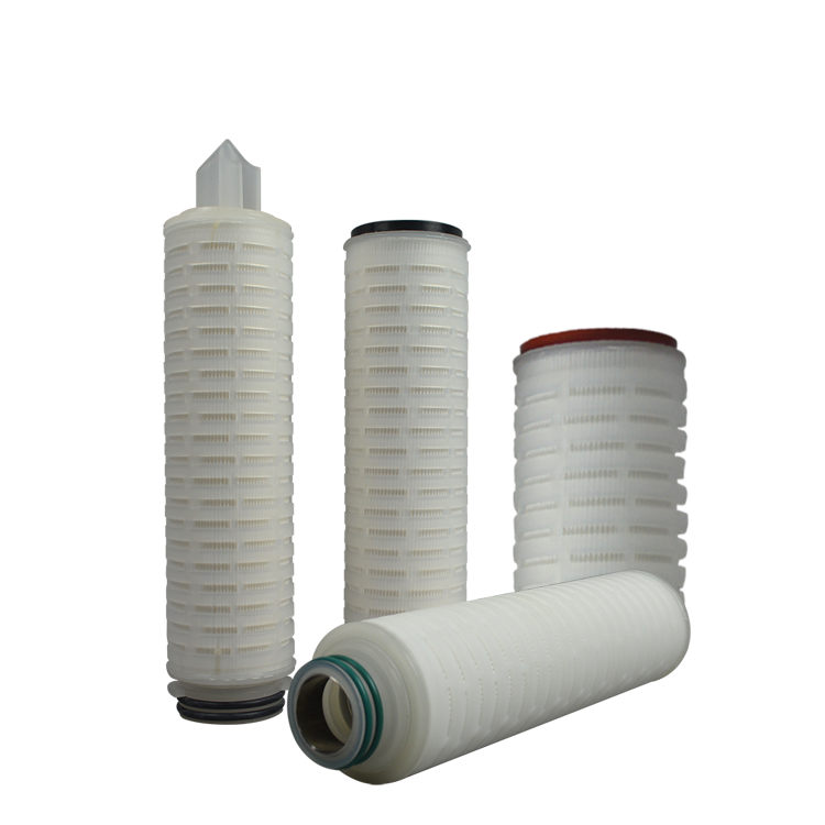 Guangzhou factory absolute micron rating water filter manufacturer 0.45 Micron PTFE Pleated membrane filter