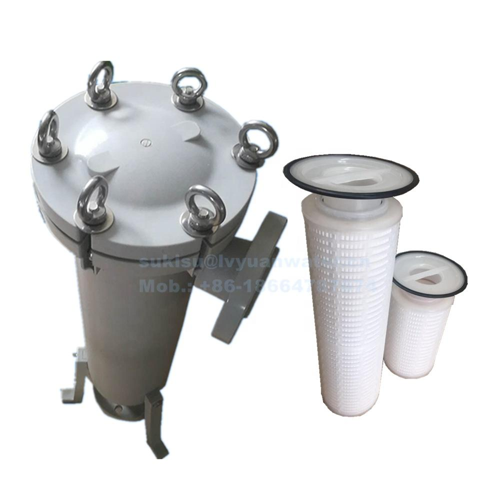 Water purification16 32 inch Stainless steel 304 316L pleated bag cartridge filter housing