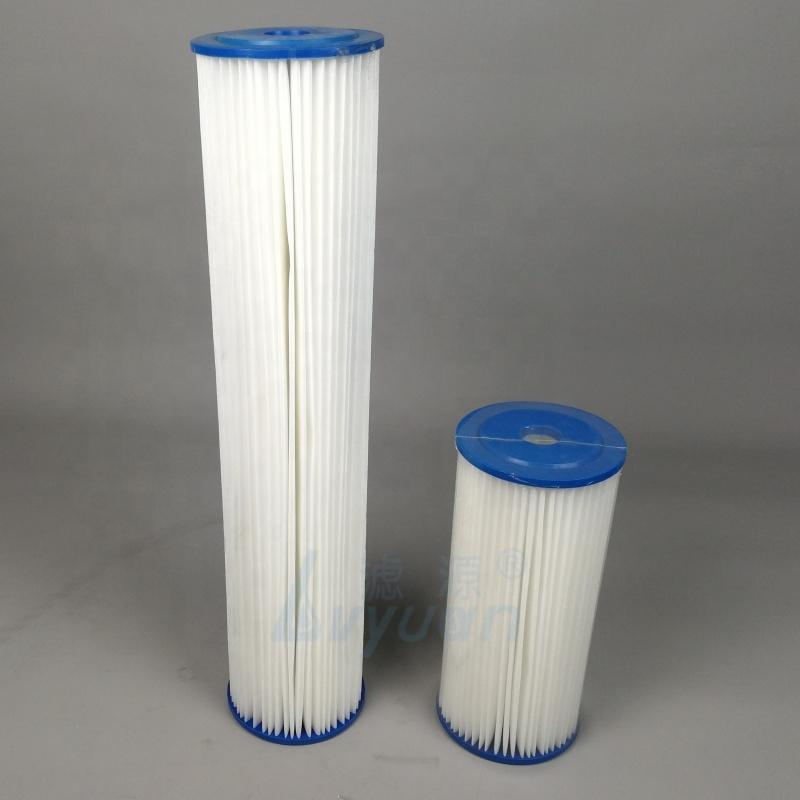 Washable 4.5x10 4.5x20 inch Big Blue PE Polyester Pleated sediment water filter cartridge