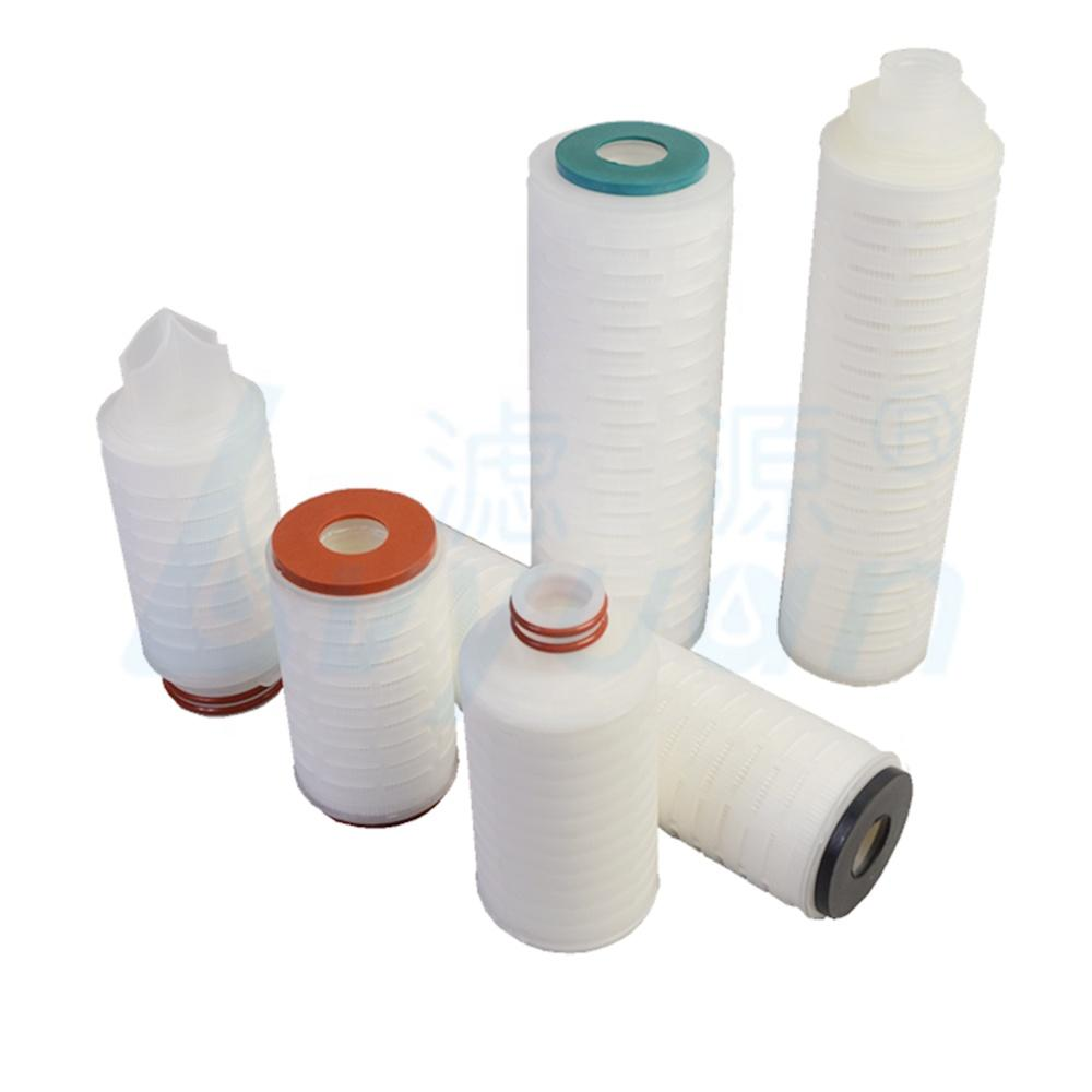 Water treatment liquid nylon membrane filter 10 20 30 40 inch ss core pleated filter cartridge with adaptor 222 226 code
