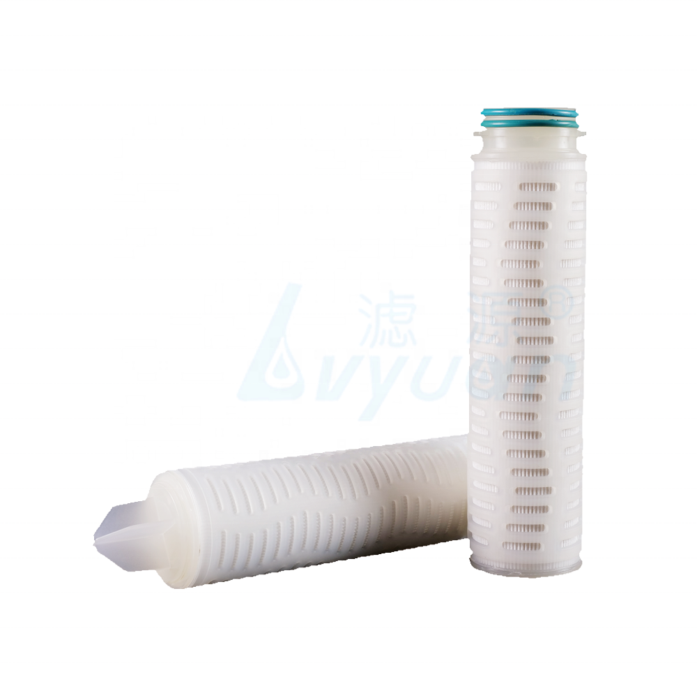10 20 30 40 inch 0.15 10 Micron China PP pleated Membrane Water Cartridge Filter