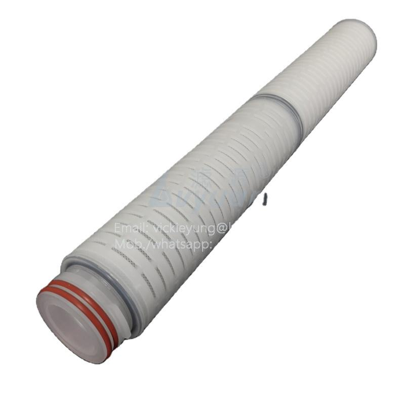 High flow rate 5 micron 40 inch pp pleated high flow filter cartridge for RO water treatment