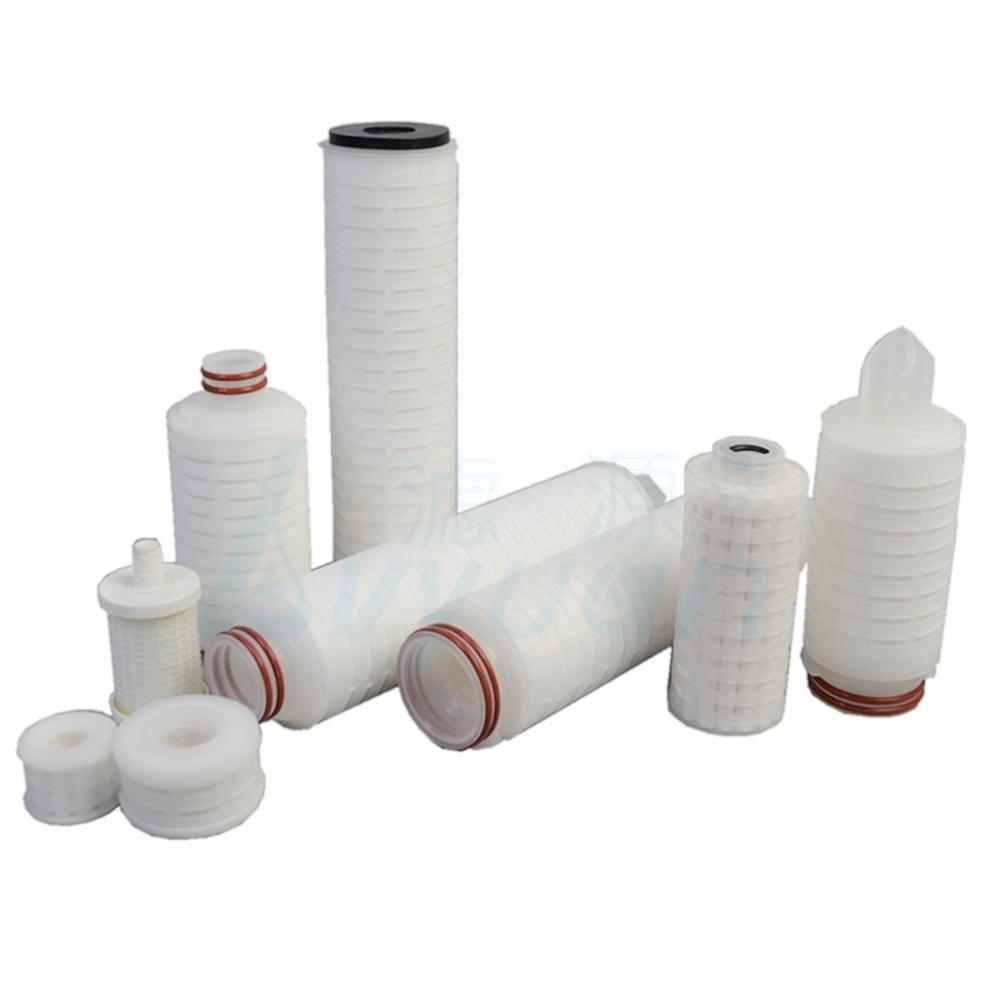 Small size double layers polypropylene (PP) membrane 10 microns folded liquid filter element for ink filtration