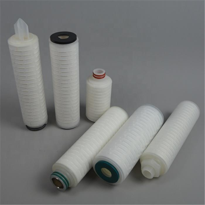 0.1 0.2 0.45 1 3 5 10 25 50 microns Polypropylene pp pleated filter element security filter cartridge with DOE or SOE end adapt