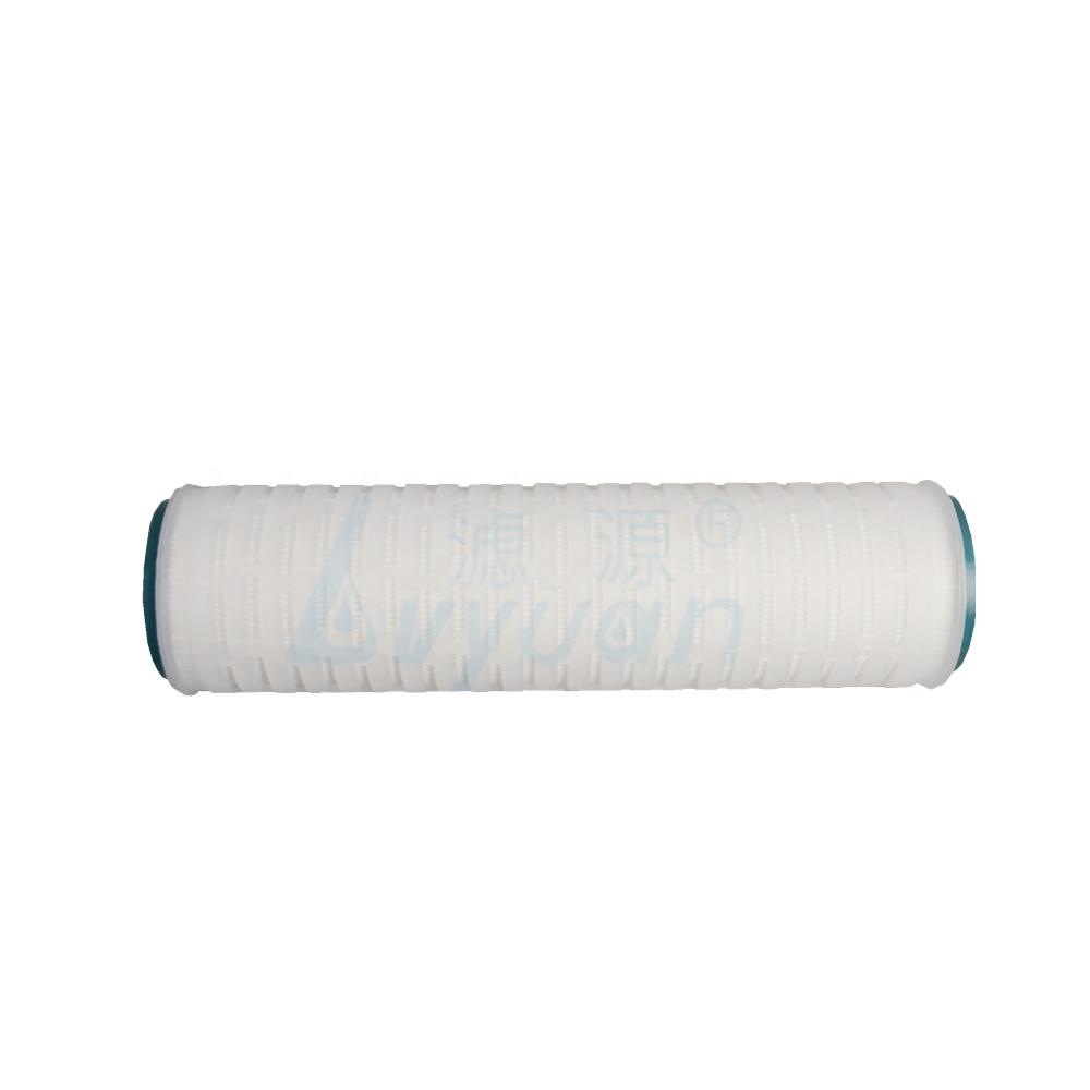 Micro porous PP membrane water filter 215 222 226 pleated polypropylene filter cartridge for industrial water oil filtration