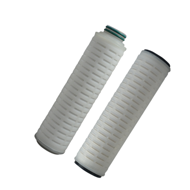 Chinese high quality pleated fibre felt filter cartridge Custom size