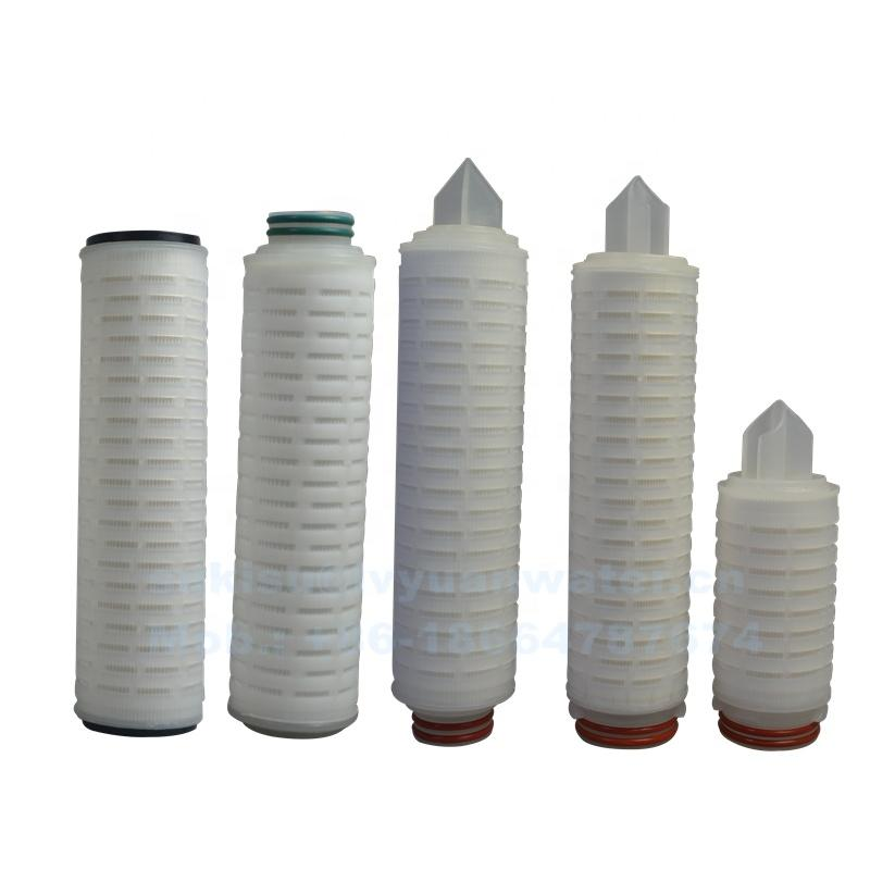 5 1 micron PP Pleated water filter cartridge for wine/beer/ethanol/oil pre-purification