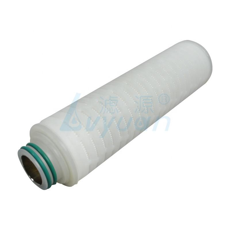 0.45 Micron 10/20 Inch PTFE Membrane Pleated Water Cartridge Filter