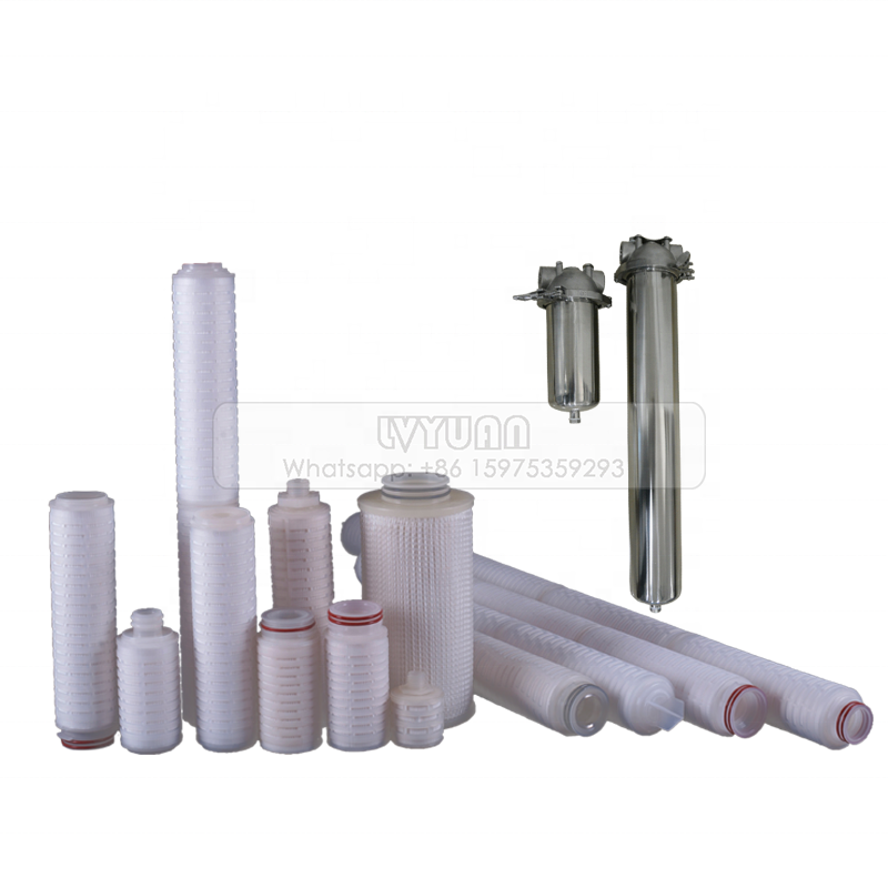 High quality 10/20/30/40 inch doe pleated water filters with 0.45 microns PP pleated membrane
