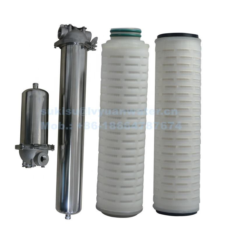0.1 0.2 0.5 1 5 micron PP Pleated Water Filter Cartridge For cutting oil Filtration