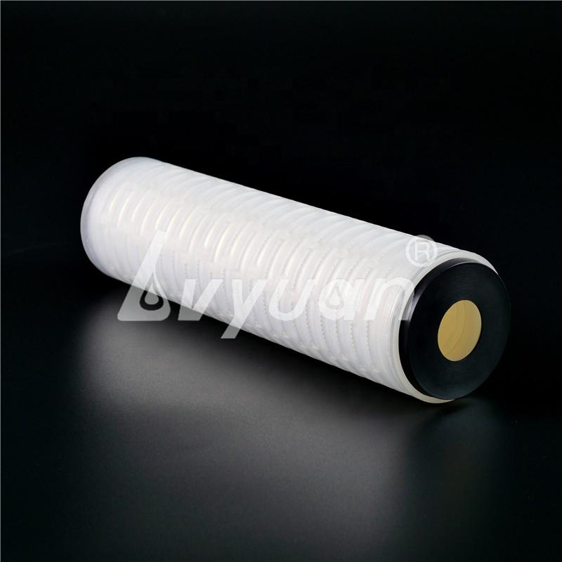 Manufacture Hydrophilic 0.45 micron milli-pore PES membrane Pleated Filter Cartridge for Water Sterile Filtration