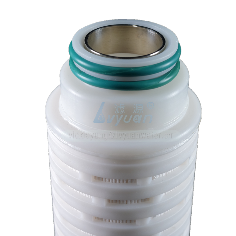 Multi layer membrane PP/PTFE/PVDF/PES/N66 222 pleated filter with 0.1/0.2/0.45 micron pleated membrane