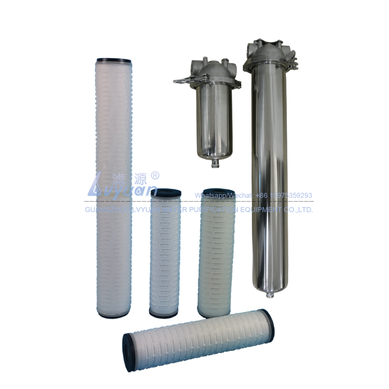 Micropore DOE double open EPDM10 micron pleated PP filter for stainless steel filter housing 20