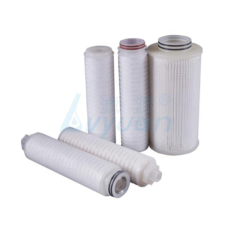 China manufacture replacement customized length ptfe pleated membrane filter cartridge for water filtration