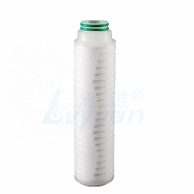 PVDF membrane pleated filter/industrial water filter cartridge for mineral water filtration