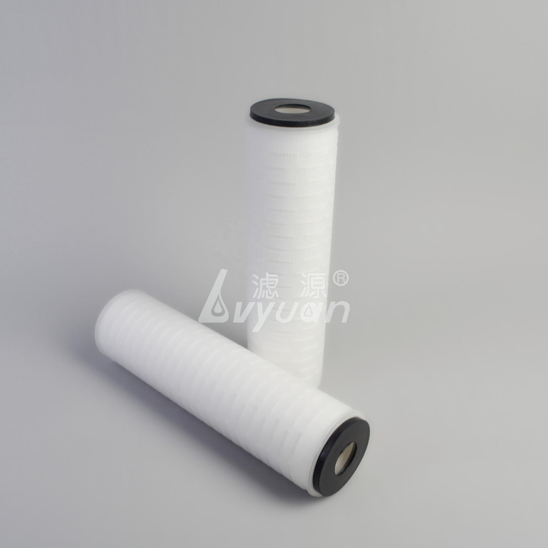 0.2um PP PTFE PVDF PES NYLON 5/10/20 inch pleated membrane water filter with DOE SOE end-cap