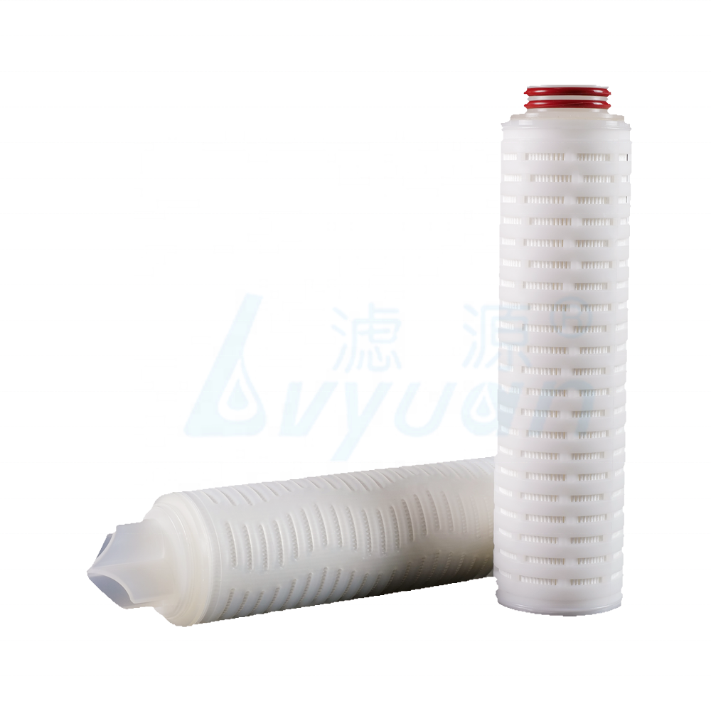 Hot Sale 20 Inch Pleated Filter Cartridge / Water Cartridge 0.2 Micron