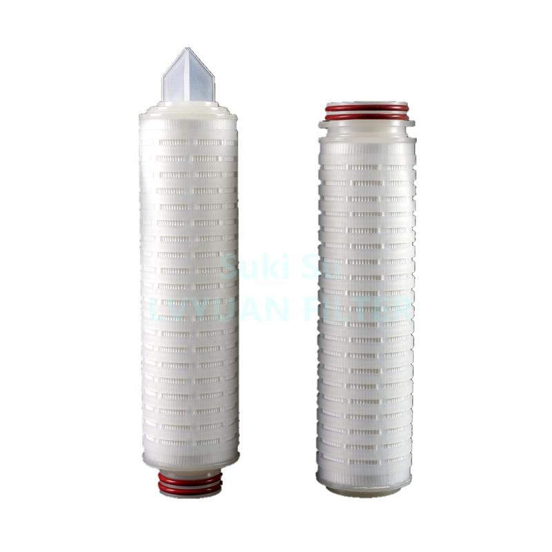 Sanitary Pleated membrane cartridge 0.22 0.45 micron Water Filter for drinking mineral bottle water purification