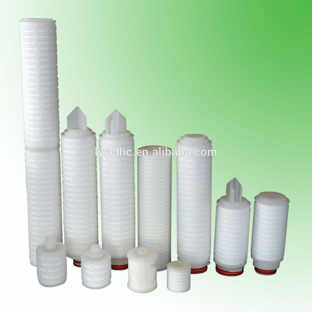 pleated polypropylene micropore membrane filter/water filter element 226/fin