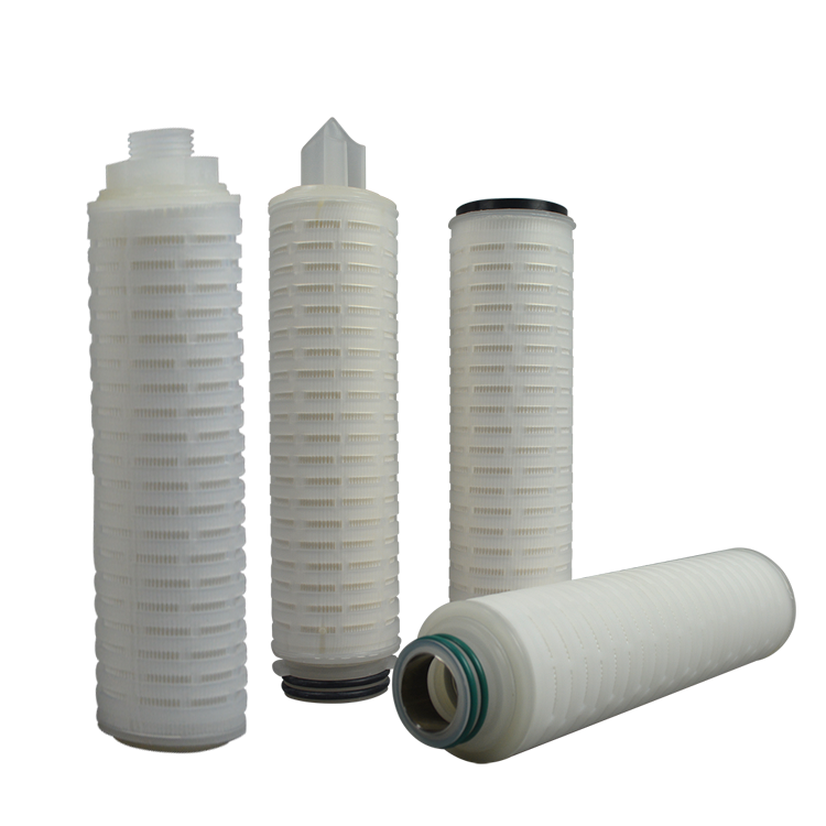 10 inch membrane pleated filter cartridge for liquid water filtration housing