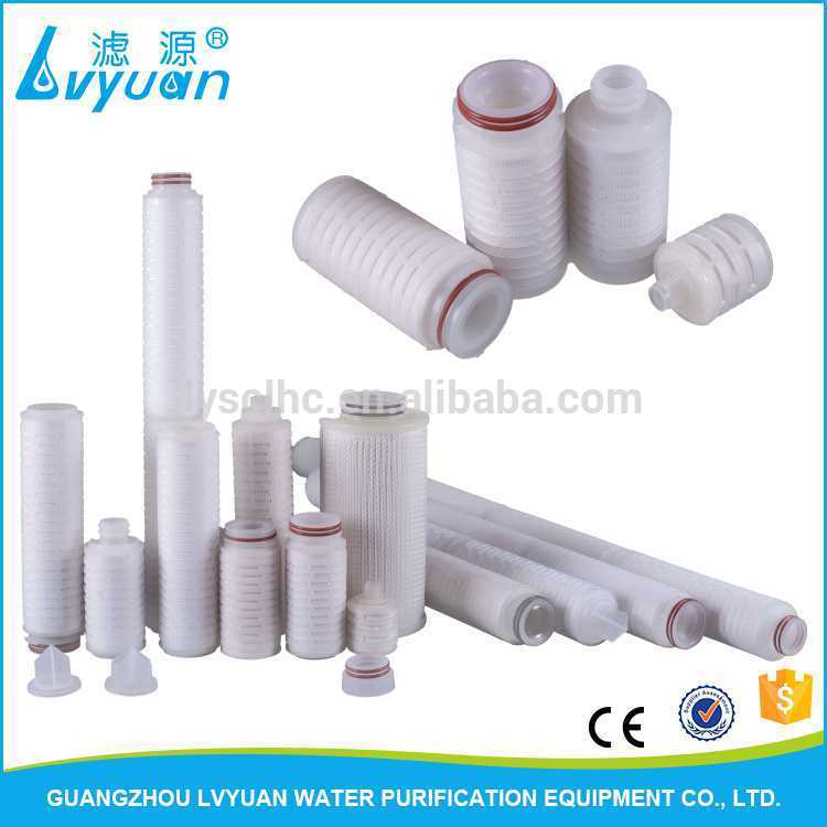 40 30 20 10 5 2.5 inch Water Filtration PP PES PTFE pleated filter cartridge for Wine, Beer, Bottled Water Processing