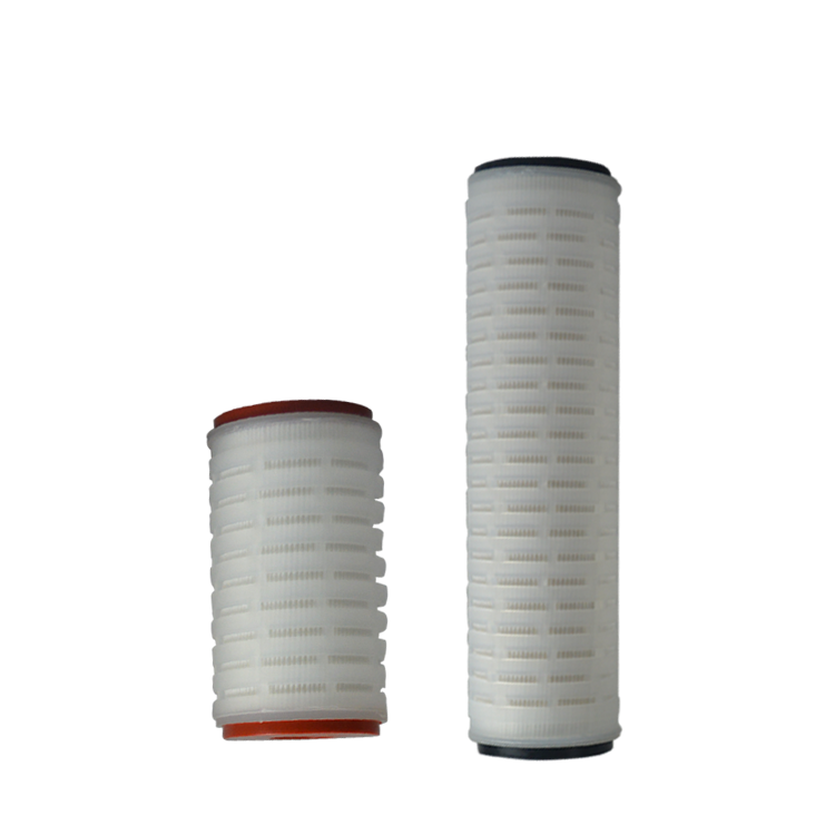 High flow rate pleated membrane PP PTFE media micron pleated filter cartridge for stainless steel filter housing 10 20 inch