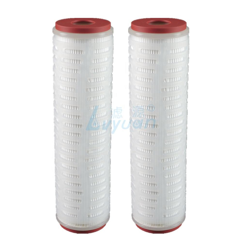 10 20 30 40 inchpleated filter cartridge 0.2 0.45 1 3 5 10 micronpleated filter for beverage filtration