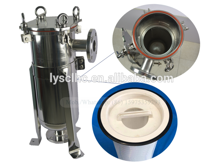 Replaced cartridge filter adapted 32 inchBag type waterfilterhousing 1/5/10 micronsPP pleated sediment filter cartridge