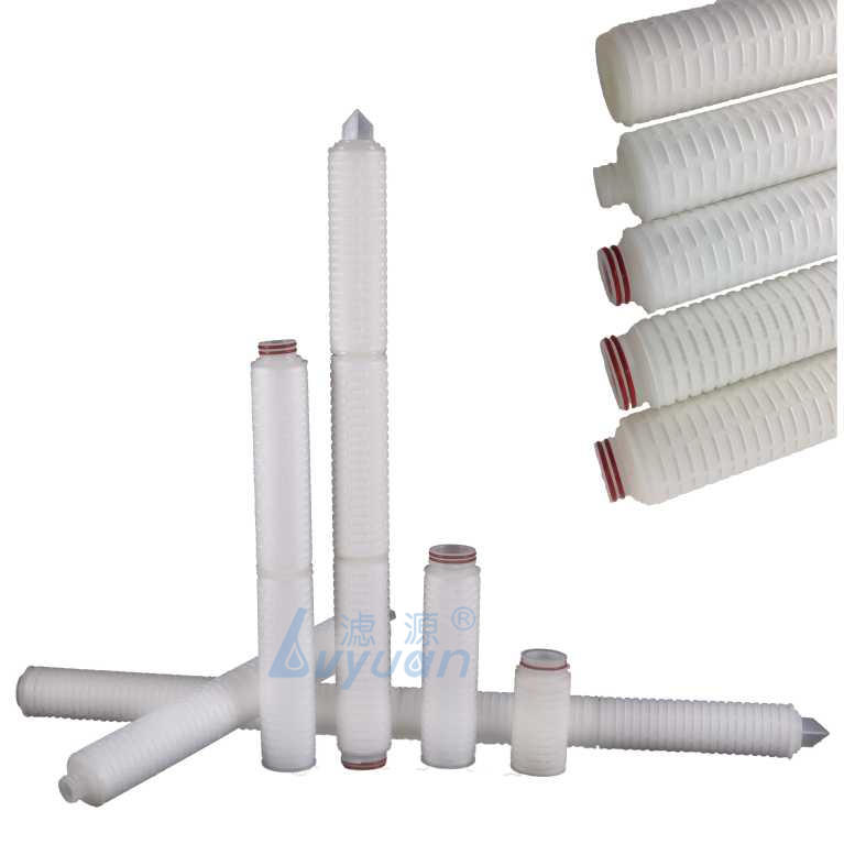 milli-pore filter 0.22 micron Cartridge PP/PES/PTFE/Nylon/PVDF membrane in Pleated cartridge filter water element
