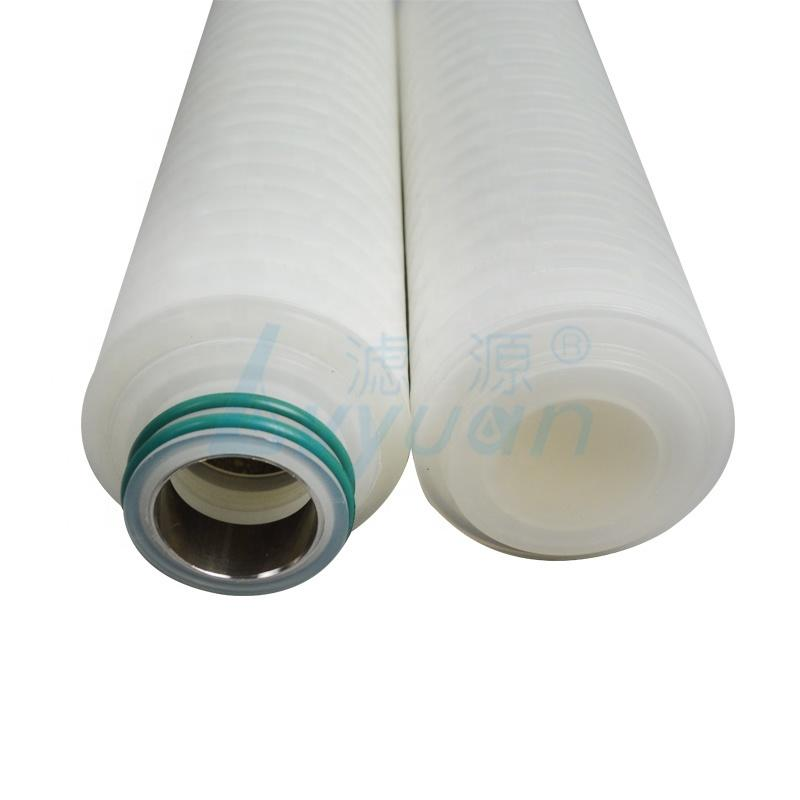 industrial 10 micron polypropylene pleated water filter cartridgeadapter with internal stainless steel reinforce ring