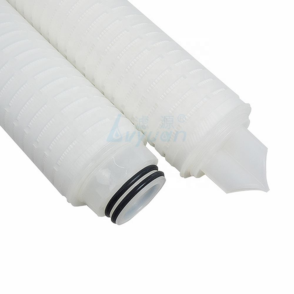 0.22 micron pleated cartridge water filter for serile filtration
