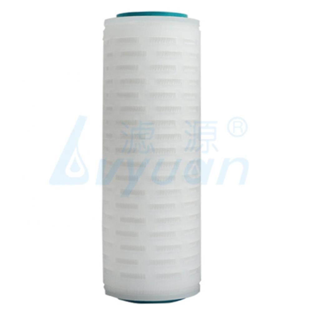Chemical pharma industry 5/10/20 inch pleated membrane 0.1 microns pes pleated cartridge for sterilizing filter