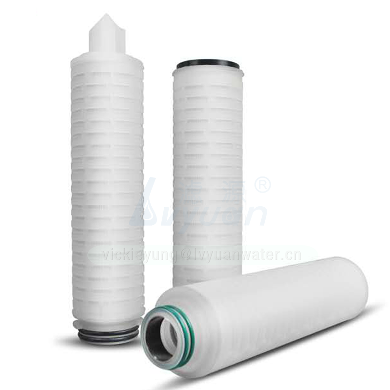 Micropore doe end-cappleated candle type filter cartridge PP PTFE membrane pleated filter cartridge with 0.2 microns