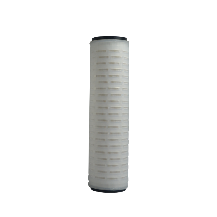 Chemical industrial PP PTFE PES PVDF 10 micron filter cartridge 0.2 micronpleated media membrane