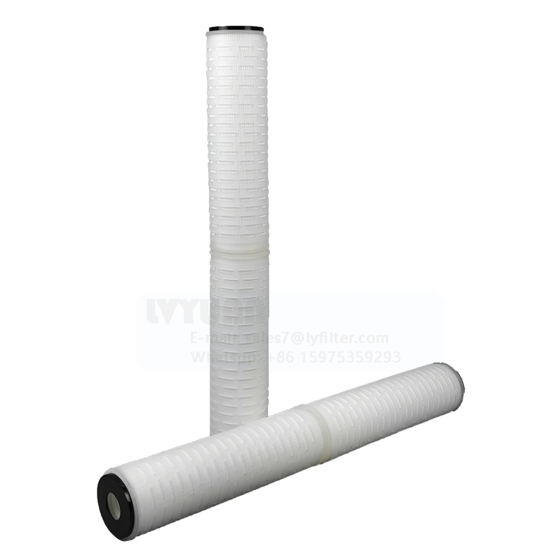Best price 20 inch EPDM DOE 5 micron polypropylene pleated filter for 10