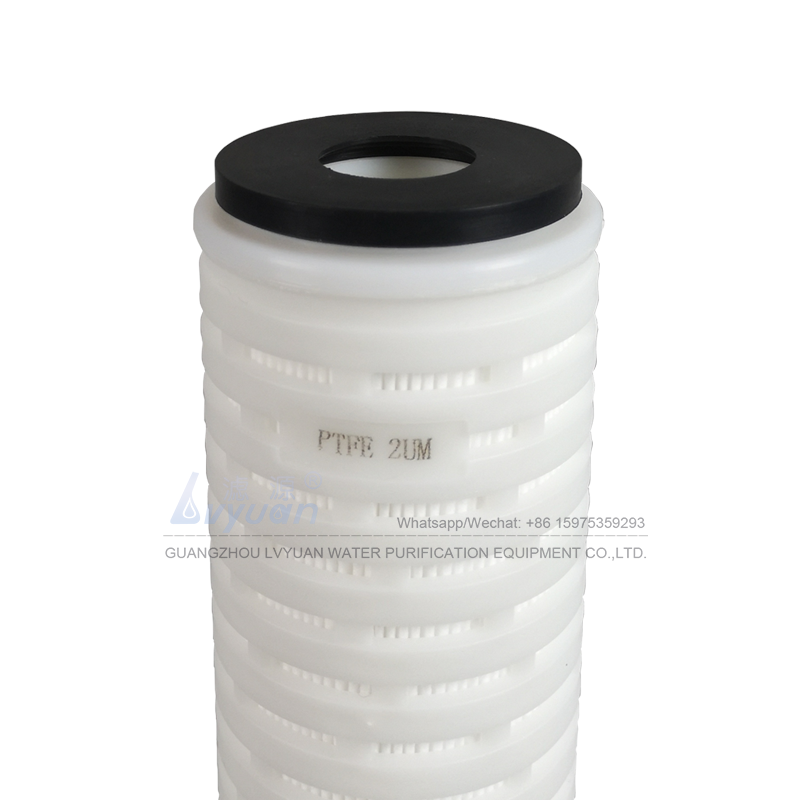 Pleated design DOE EPDM 10 20 30 40 50 60 70 inch PTFE membrane 0.22 micron cartridge filter for pharmacy filtration industry