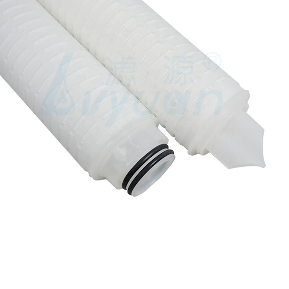 Nylon membrane pleated filter cartridge for waterl filtration 10 20 30 40 inch 0.22 0.45 micron