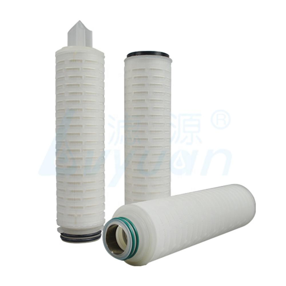Hydrophobic PTFE membrane customized micron Pleated Filter Cartridge 0.1 0.22 micron