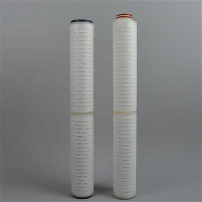 Industrial pre final liquid 10/20/30/40 inch PP-P Pleat polypropylene cartridge filter for chemical water treatment system