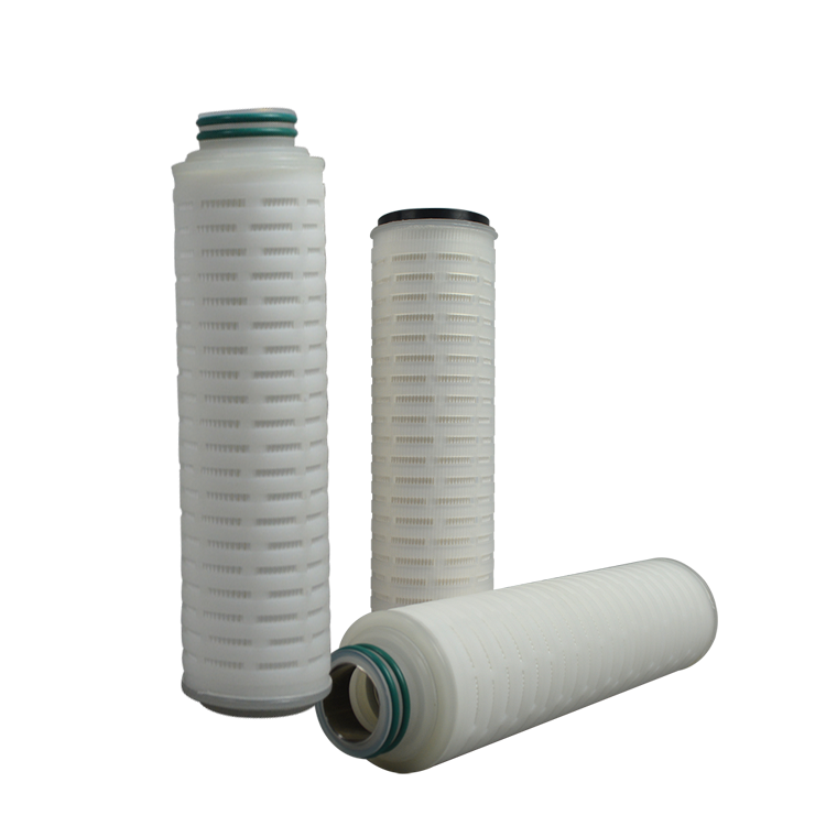 High quality cheap 02 micron pleated water filter cartridge