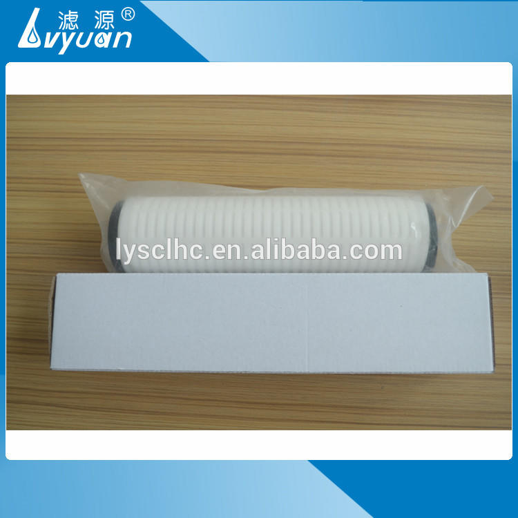 10 20 30 40 inch pleated filter micro filtration membrane for water treatment